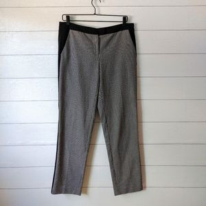 Vince Camuto Houndstooth Tuxedo Stripe Pants 6